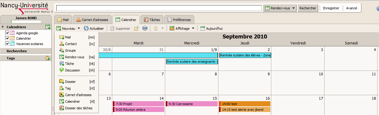 calendrier scolaire universite lorraine
